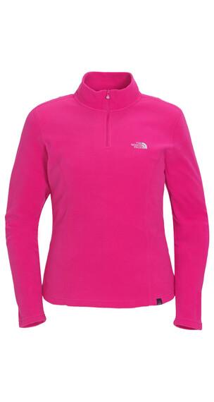 The North Face Women's 100 Glacier 1/4 Zip fusion pink